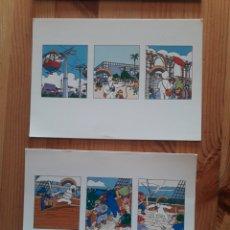 Postales: SEVILLA 92 EXPO LOTE 4 POSTALES CURRO. Lote 199385785