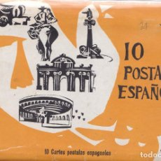 Postales: ESPAÑA - TACO DE 10 POSTALES DE LA EXPOSICION UNIVERSAL DE BRUSELAS AÑO 1958. Lote 202953491