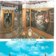 Postales: REAL SITIO ARANJUEZ PALACIO - BLOC 12 TARJETAS POSTALES PATRIMONIO NACIONAL. Lote 205396896