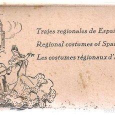 Postales: BLOC DE 10 POSTALES ILUSTRADAS. TRAJES REGIONALES. Y TIPICOS DE MUJERES DE PROVINCIAS. Lote 205401101