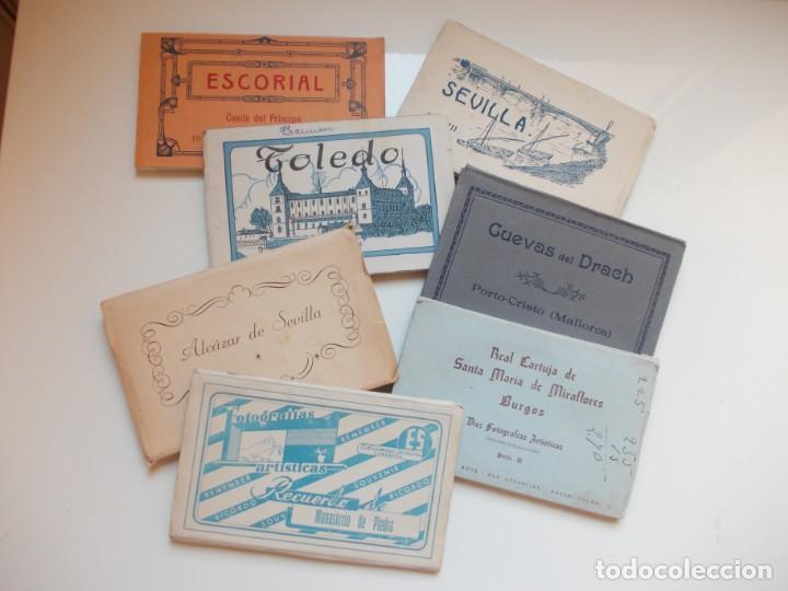 LOTE DE 7 BLOCS DE POSTALES ANTIGUAS AÑOS 50 (Postales - España - Sin Clasificar Moderna (desde 1.940))