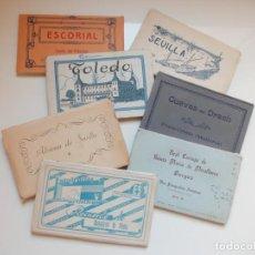 Postales: LOTE DE 7 BLOCS DE POSTALES ANTIGUAS AÑOS 50. Lote 206454052