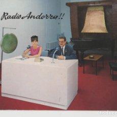 Cartes Postales: LOTE B- POSTAL ESTUDIO RADIO DE ANDORRA AÑOS 60. Lote 206534065