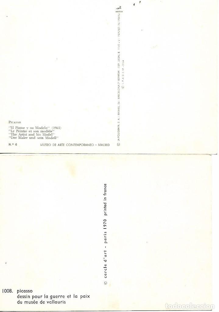 Postales: PICASSO - 2 POSTALES REPRODUCIENDO PINTURAS NO CIRCULADEAS - VER FOTOS - - Foto 2 - 210217940