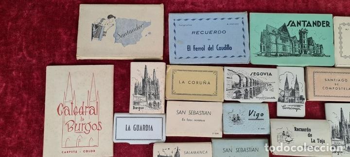 Postales: COLECCION DE 24 POSTALES DESPLEGABLES. MONUMENTOS DE ESPAÑA. SIGLO XX. - Foto 2 - 210727070