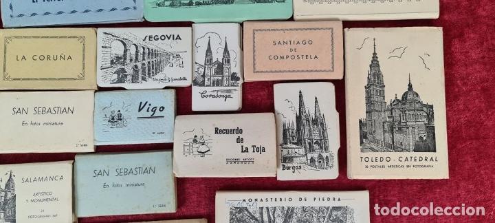 Postales: COLECCION DE 24 POSTALES DESPLEGABLES. MONUMENTOS DE ESPAÑA. SIGLO XX. - Foto 4 - 210727070