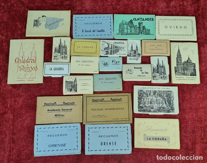 COLECCION DE 24 POSTALES DESPLEGABLES. MONUMENTOS DE ESPAÑA. SIGLO XX. (Postales - España - Sin Clasificar Moderna (desde 1.940))