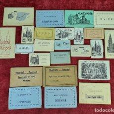 Postales: COLECCION DE 24 POSTALES DESPLEGABLES. MONUMENTOS DE ESPAÑA. SIGLO XX.. Lote 210727070
