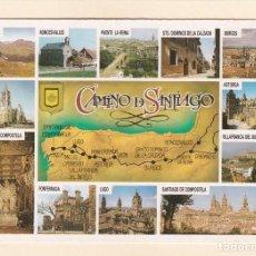 Postais: POSTAL CAMINO DE SANTIAGO. CANDANCHU, RONCESVALLES, PUENTE LA REINA, BURGOS, ASTORGA ... (1989). Lote 212653040