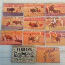 Postales: COLECCIÓN DE 10 POSTALES DE ESCENAS DE CORRIDA DE TOROS. Lote 213993498
