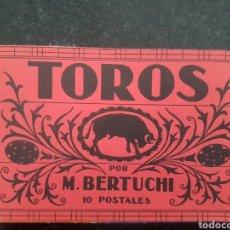 Postales: BLOC DE 10 POSTALES TAUROMAQUIA. Lote 214445051