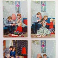 Cartes Postales: LOTE 4 POSTALES FOTOGRÁFICAS BORDE DORADO AÑOS 50. Lote 215920731
