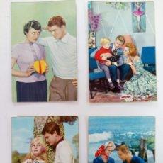 Cartes Postales: LOTE 4 POSTALES FOTOGRÁFICAS BORDE DORADO AÑOS 50. Lote 215920846