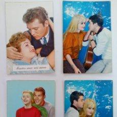 Cartes Postales: LOTE 4 POSTALES FOTOGRÁFICAS BORDE DORADO AÑOS 50. Lote 215920891
