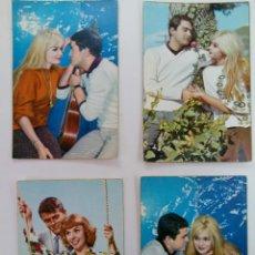 Cartes Postales: LOTE 4 POSTALES FOTOGRÁFICAS BORDE DORADO AÑOS 50. Lote 215920976