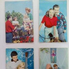 Cartes Postales: LOTE 4 POSTALES FOTOGRÁFICAS BORDE DORADO AÑOS 50. Lote 215921042