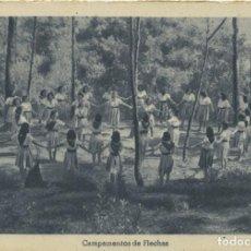 Postales: SECCIÓN FEMENINA FET Y JONS. CAMPAMENTOS DE FLECHAS. SIN CIRCULAR.ED.HUECOGRABADO VELÁZQUEZ. Lote 218029073