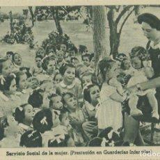 Postales: SECCIÓN FEMENINA FET Y JONS. SERVICIO SOCIAL DE LA MUJER... SIN CIRCULAR.ED.HUECOGRABADO VELÁZQUEZ. Lote 218113221