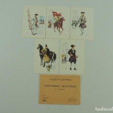 Cartes Postales: TARJETAS MAXIMAS 5 POSTALE PRIMER DIA UNIFORMES MILITARES TERCERA SERIE. Lote 219270862