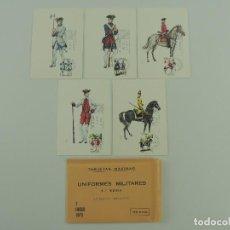 Cartes Postales: TARJETAS MAXIMAS 5 POSTALE PRIMER DIA UNIFORMES MILITARES QUARTA SERIE. Lote 219271113