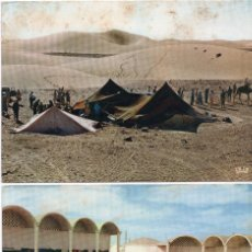 Cartes Postales: 2 POSTALES MEDIADOS SIGLO XX SAHARA ESPAÑOL. Lote 219700533