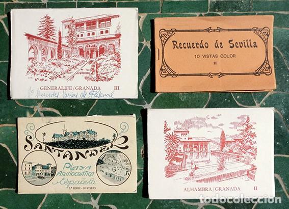 POSTALES - RECUERDO - SANTANDER / PLAYA ARISTOCRÁTICA - GRANADA / ALHAMBRA / GENERALIFE - SEVILLA (Postales - España - Sin Clasificar Moderna (desde 1.940))