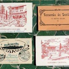 Postales: POSTALES - RECUERDO - SANTANDER / PLAYA ARISTOCRÁTICA - GRANADA / ALHAMBRA / GENERALIFE - SEVILLA. Lote 220095456