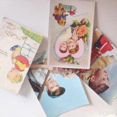 Postales: LOTE POSTALES ANTIGUAS NIÑOS. Lote 222538258