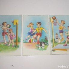 Postales: 3 POSTALES SERIE 2343 AÑOS 50. Lote 228591555