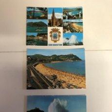 Postales: 3 POSTALES DE SAN SEBASTIÁN. Lote 234440340