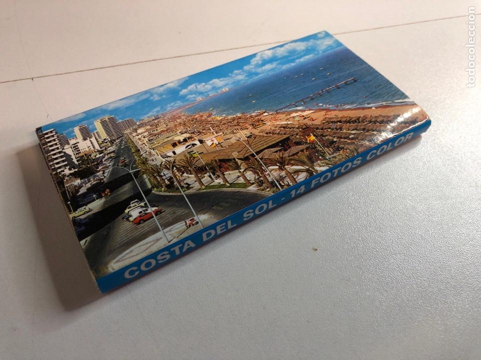 BLOC ACORDEÓN DE 14 FOTOGRAFÍAS DE LA COSTA DE EL SOL (Postales - España - Sin Clasificar Moderna (desde 1.940))