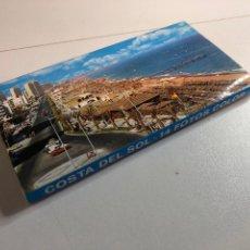 Postales: BLOC ACORDEÓN DE 14 FOTOGRAFÍAS DE LA COSTA DE EL SOL. Lote 234621870