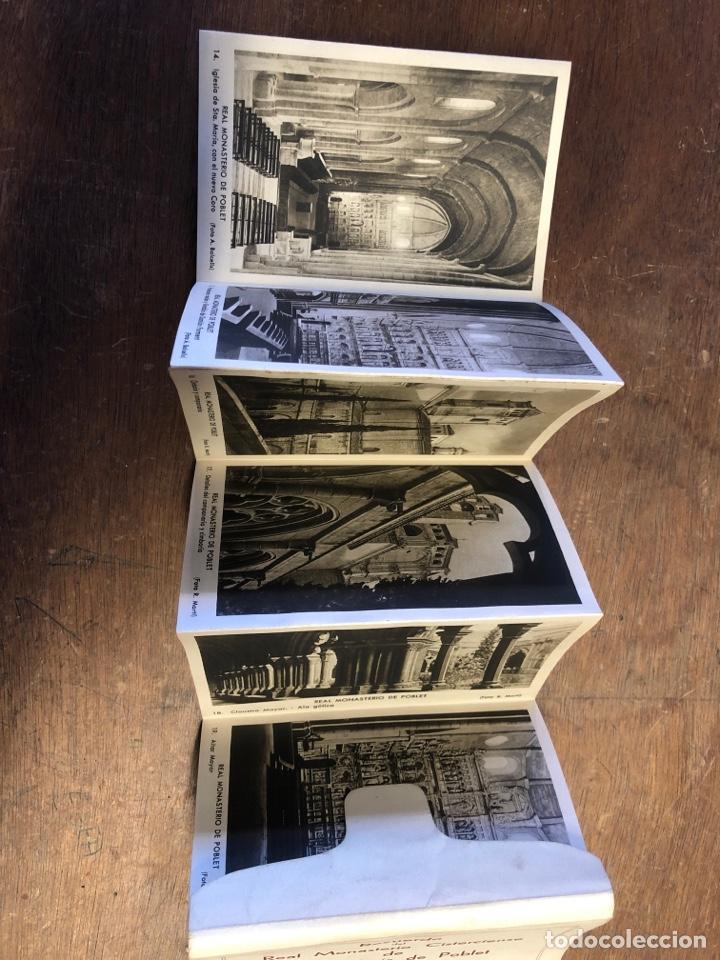 Postales: 20 tarjetas postales en acordeón de recuerdo Del Real monasterio cisterciense de Santa Maria poblet - Foto 2 - 234629610