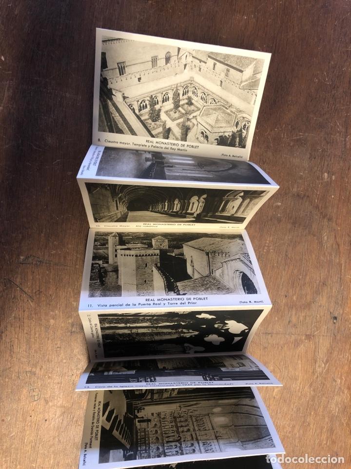 Postales: 20 tarjetas postales en acordeón de recuerdo Del Real monasterio cisterciense de Santa Maria poblet - Foto 3 - 234629610