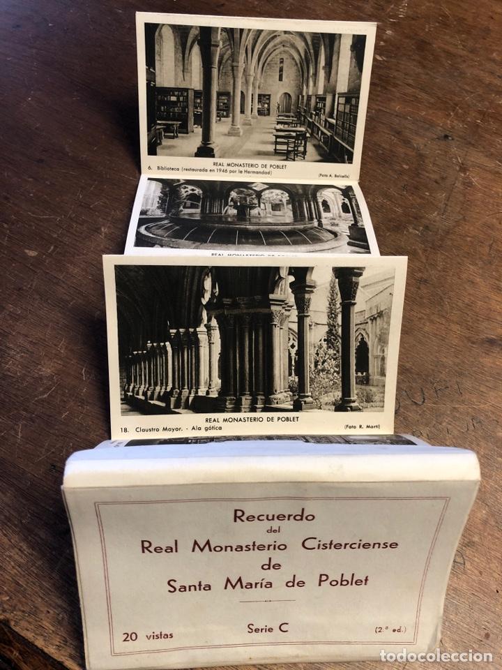 Postales: 20 tarjetas postales en acordeón de recuerdo Del Real monasterio cisterciense de Santa Maria poblet - Foto 4 - 234629610