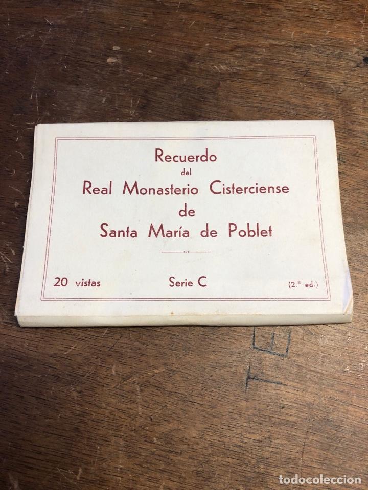 20 TARJETAS POSTALES EN ACORDEÓN DE RECUERDO DEL REAL MONASTERIO CISTERCIENSE DE SANTA MARIA POBLET (Postales - España - Sin Clasificar Moderna (desde 1.940))