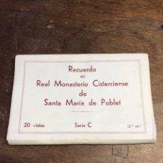 Postales: 20 TARJETAS POSTALES EN ACORDEÓN DE RECUERDO DEL REAL MONASTERIO CISTERCIENSE DE SANTA MARIA POBLET. Lote 234629610