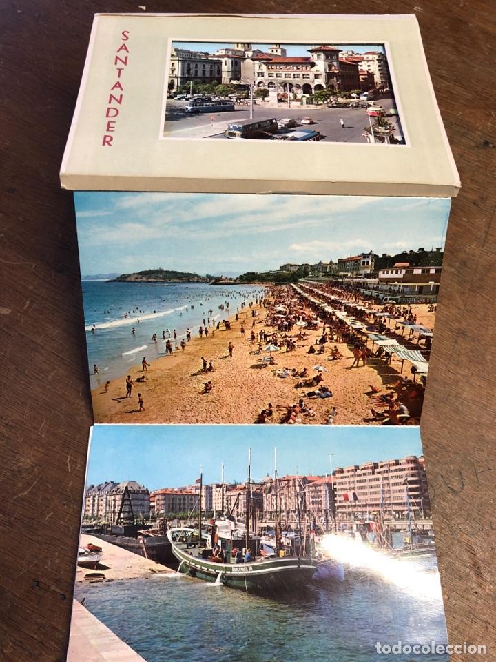 Postales: 10 tarjetas postales en acordeón troqueladas de Santander - Foto 2 - 234630105
