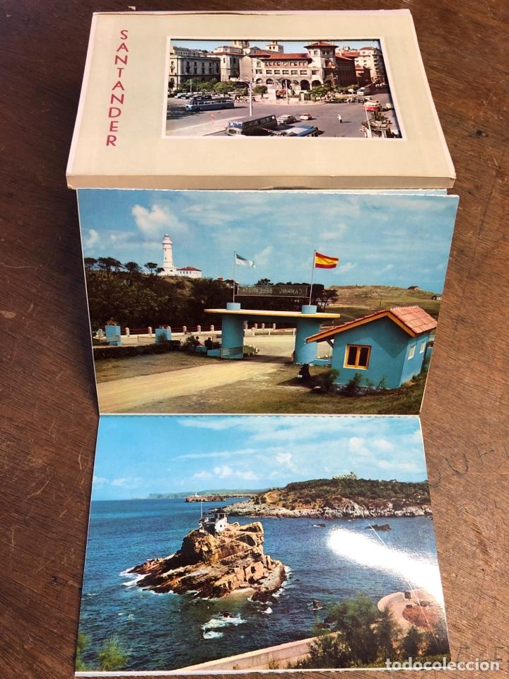 Postales: 10 tarjetas postales en acordeón troqueladas de Santander - Foto 3 - 234630105