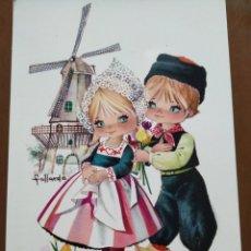Cartes Postales: POSTAL. GALLARDA ( PAREJA HOLANDESA CON MOLINO ).SIN CIRCULAR. Lote 235309110
