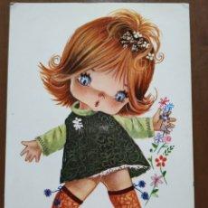 Cartes Postales: POSTAL. GALLARDA ( NIÑA CON RATONES ). SIN CIRCULAR.. Lote 235311400