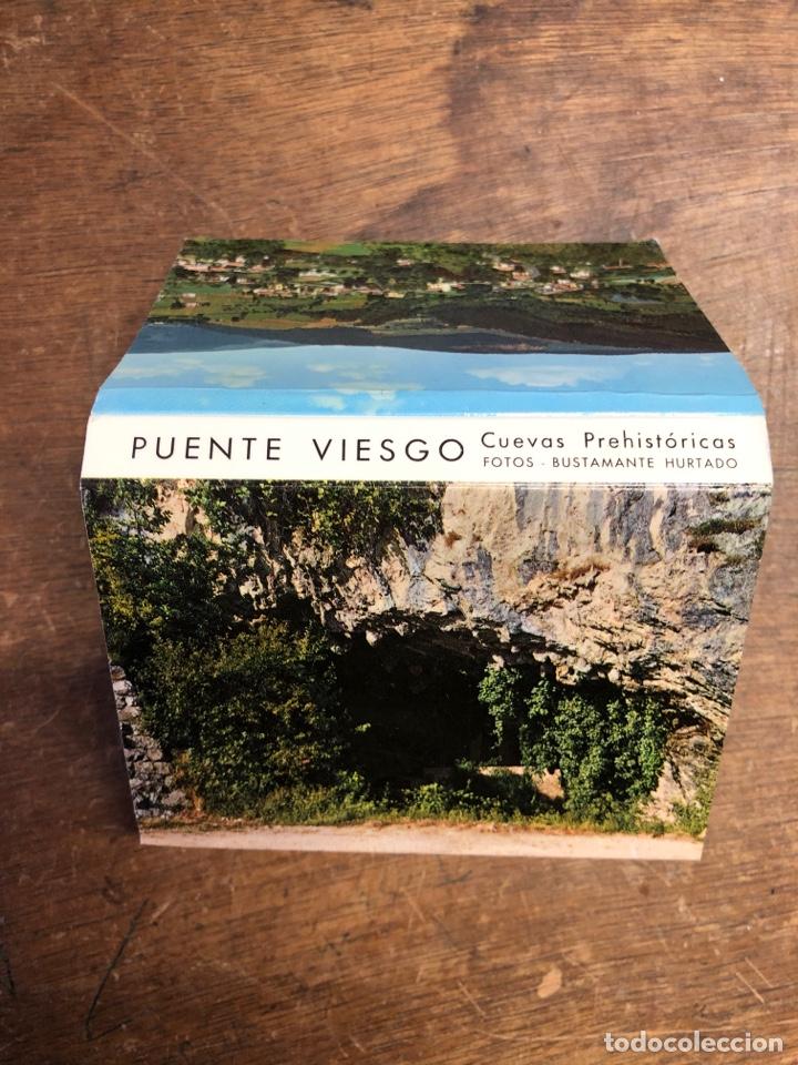 23 FOTOS EN ACORDEÓN DE PUENTE VIESCO (CUEVAS PREHISTÓRICAS) 10X7CM (Postales - España - Sin Clasificar Moderna (desde 1.940))