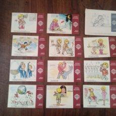 Postales: COLECCIÓN POSTALES LOTERÍA NACIONAL. E. DE LARA. Lote 239421390