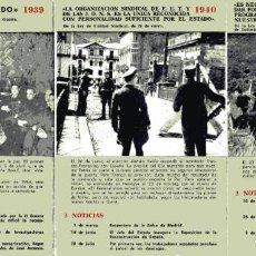 Postales: LOTE 9 POSTALES SERVICIO INFORMATIVO ESPAÑOL 1939-1947. Lote 242473610