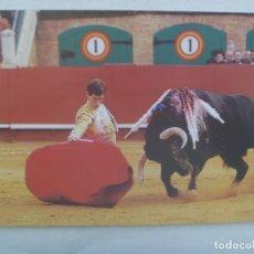 Postales: POSTAL DE ESPAÑA : CORRIDA DE TOROS, CESAR JIMENEZ TOREANDO DE RODILLAS .. 12 X 17 CM. Lote 242849525