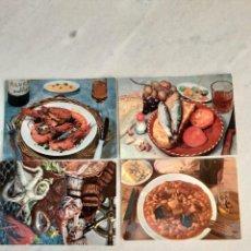 Postales: LOTE DE 7 POSTALES PLATOS TIPICOS. Lote 243295100