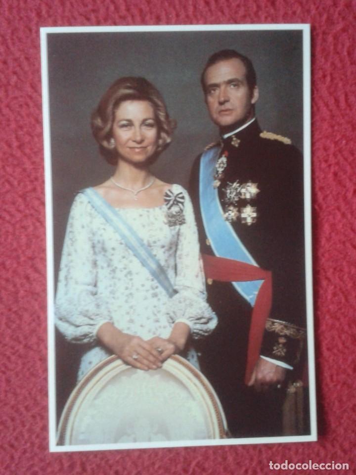 POST CARD FAMILIA REAL ESPAÑOLA EL REY JUAN CARLOS I Y LA REINA SOFÍA THE KING AND QUEEN OF SPAIN... (Postales - España - Sin Clasificar Moderna (desde 1.940))