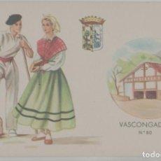 Postales: LOTE B- POSTAL PAIS VASCO VASCONGADAS AÑOS 50. Lote 243645305