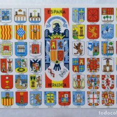 Postales: POSTAL ESPAÑA, ESCUDOS DE SUS PROVINCIAS, AÑOS 60. Lote 244468420