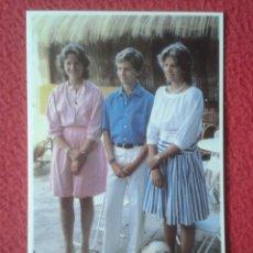 Postales: POST CARD FAMILIA REAL ESPAÑOLA SPANISH ROYAL FAMILY LAS INFANTAS ELENA Y CRISTINA EL INFANTE FELIPE. Lote 244646865